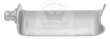 Stumpfe längslaufende Retraktorvalven, Breite 24 mm