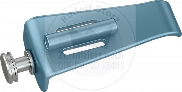 BB-Valven Edelstahl, stumpf, mit Kaltlichtanschluss, Breite (B) 22,5 mm