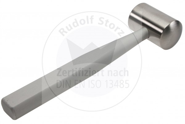 Mallet COTTLE, Stainless Steel Head, Head Weight g, Black Anodized Aluminium-Handle, massive