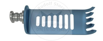 CCR-Valve Titan, 5-zahnig, medial, blau, Breite (B) 24 mm