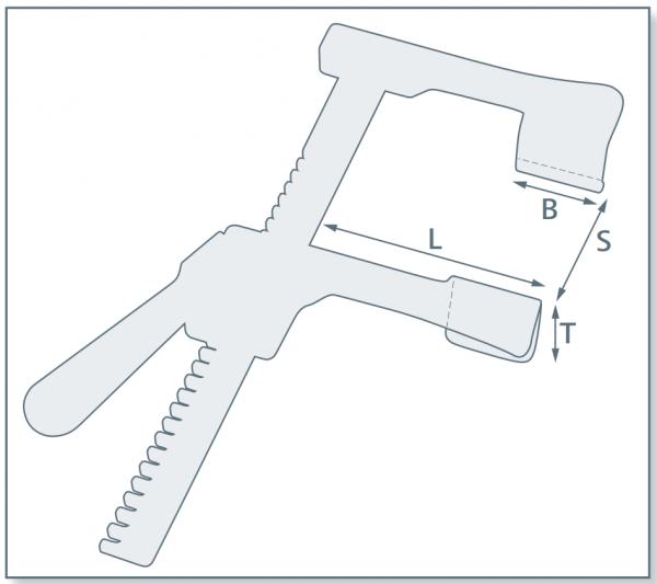 Rippenspreizer ANKEY mit Schnellverschluss. 6 beweglichen Wechselvalven
