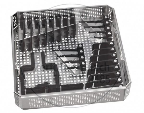 MCC Set klein mit Siebkorb und beweglichem Sperrer, Valven paarweise, Haken einzeln