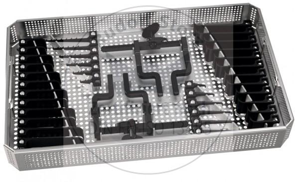 MCC Set groß mit Siebkorb und 2 beweglichem Sperrer, Valven paarweise, Haken einzeln