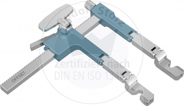 BB-Retractor, Offset max. opening 80 mm, Arm Length 80 mm