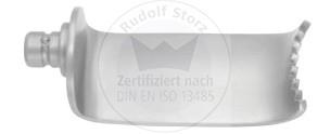 Feingezahnte seitliche Retraktorvalven, Breite 24 mm