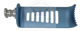 CCR-Valve Titan, 8-zahnig, lateral, blau, Breite (B) 24 mm