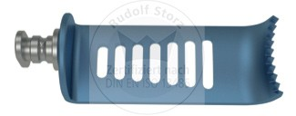 CCR-Valve Titan, mit Side-Load, 8-zahnig, lateral, blau, Breite (B) 24 mm