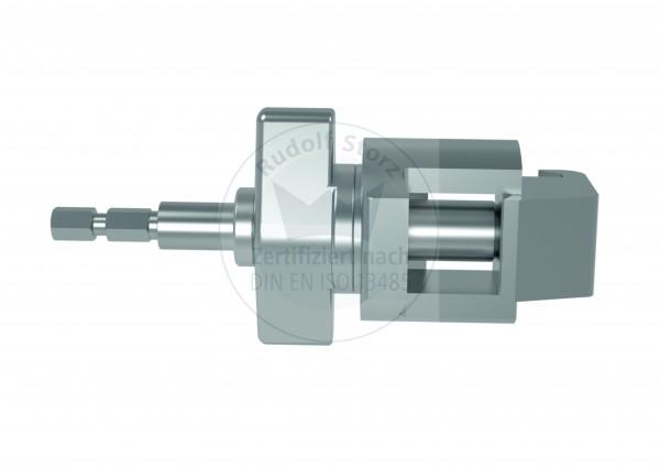 Rahmenklemme mit 6-Kant-Schnellkupplungsadapter