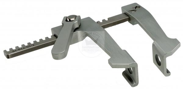 Aluminium-Rippensperrer, gebogene Arme, K-Modell