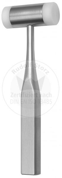 Hammer, Stahlkopf, Kopfgewicht 130 g, 2 auswechselbare Kunststoffbacken, eloxierter Aluminiumgriff,