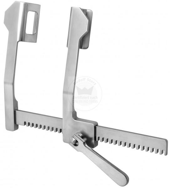 Rippenspreizer FINOCHIETTO, mit abgewinkeltem Seitenarm