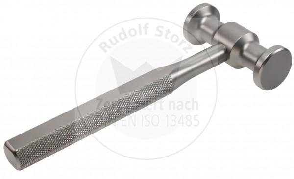 Hammer für Knochen, USA Modell, Stahlkopf mit Kopfgewicht, 450 g, Stahlgriff, sandgestrahlt, massiv
