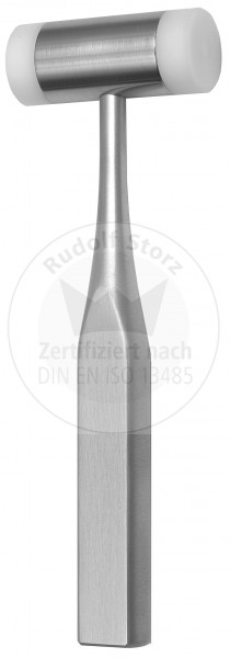 Hammer, Stahlkopf, Kopfgewicht 110 g, mit beidseitigen Kunststoffbacken, Griff hohl