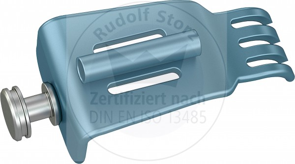 BB-Valven Edelstahl, gezahnt, mit Kaltlichtanschluss Breite (B) 26,5 mm