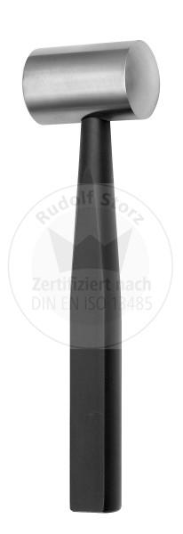 Hammer COTTLE für Knochen, Stahlkopf, Kopfgewicht 240 g, schwarz eloxierter Aluminiumgriff, massiv