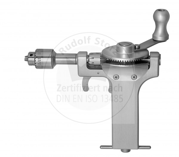 Handbohrapparat BUNNEL mit Schlüssel, Durchgangsbohrung Ø 4 mm