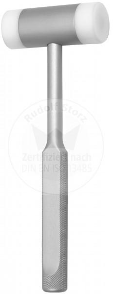Hammer mit eloxiertem Aluminiumkopf und -griff, auswechselbare Kunststoffbacken, Kopfgewicht 94 g, m