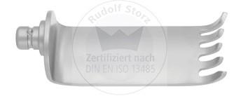 Mittlere gezahnte Retraktorvalven, Breite 24 mm